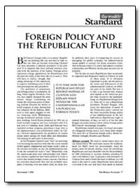 Foreign Policy and the Republican Future by New American Century