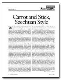 Carrot and Stick, Szechuan Style by Kagan, Robert