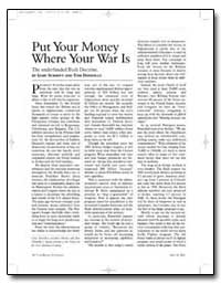 Put Your Money Where Your War Is by Schmitt, Gary
