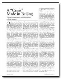 A Crisis Made in Beijing by Schmitt, Gary