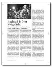 Baghdad Is Not Mogadishu by Schmitt, Gary