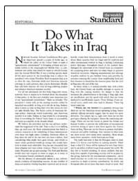 Do What It Takes in Iraq by Kagan, Robert