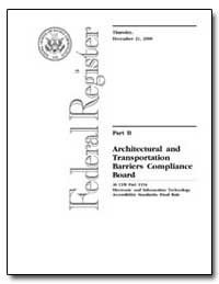 Architectural and Transportation Barrier... by United States Access Board