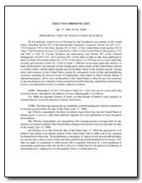 Prohibiting Certain Transactions with Ir... by Carter, Jimmy