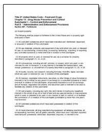 Title 21 United States Code Food and Dru... by United States Department of the Treasury