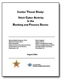 Insider Threat Study : Illicit Cyber Act... by United States Department of the Treasury