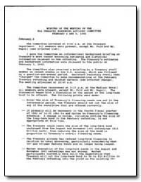 Minutes of the Meeting of the Psa Treasu... by United States Department of the Treasury