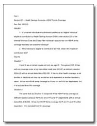 Part I Section 223 Health Savings Accoun... by United States Department of the Treasury