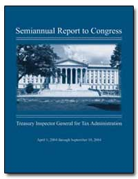 Semiannual Report to Congress by United States Department of the Treasury