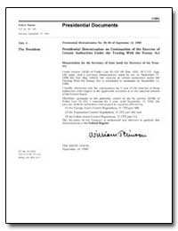Title 3 the President Presidential Deter... by United States Department of the Treasury