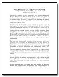 What They Say about Muhammad by Wamy Series On Islam