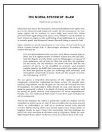 The Moral System of Islam by