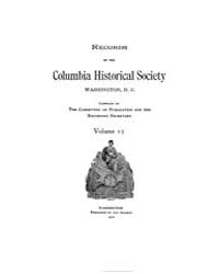 Records of the Columbia Historical Socie... Volume Vol. 15 by