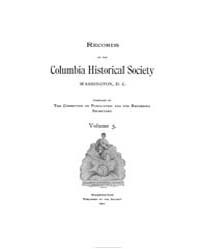 Records of the Columbia Historical Socie... Volume Vol. 5 by