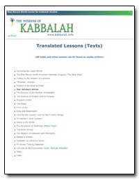 Translated Lessons (Texts) by