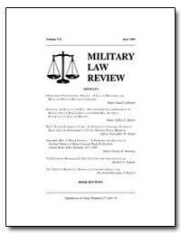 Military Law Review-Volume 176 by Christiansen, Erik L., Captain