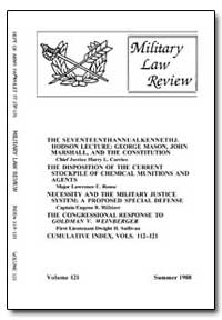Military Law Review-Volume 121 by Chute, Alan D., Captain