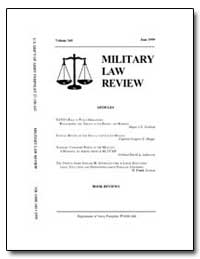 Military Law Review-Volume 160 by Bradley, Mary J., Captain