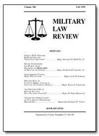 Military Law Review-Volume 150 by Jones, John B. Jr., Captain