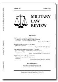 Military Law Review-Volume 151 by Jones, John B. Jr., Captain