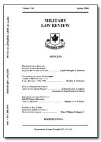 Military Law Review-Volume 144 by Risch, Stuart W., Captain