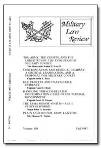 Military Law Review-Volume 118 by Feeney, Thomas J., Major