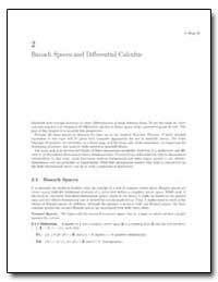 Banach Spaces and Differential Calculus by