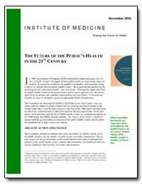 The Future of the Public's Health in the... by Bender, Kaye W.