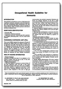 Occupational Health Guideline for Ammoni... by Department of Health and Human Services