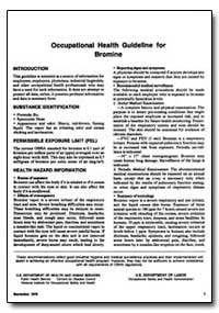 Occupational Safety and Health Guideline... by Department of Health and Human Services