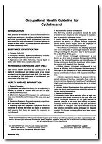 Occupational Health Guideline for Cycloh... by Department of Health and Human Services