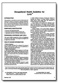 Occupational Health Guideline for 2,4-D by Department of Health and Human Services