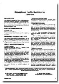 Occupational Health Guideline for Dibora... by Department of Health and Human Services