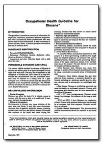Occupational Health Guideline for Dioxan... by Department of Health and Human Services