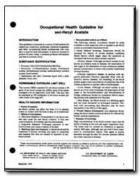Occupational Health Guideline for Sec-He... by Department of Health and Human Services