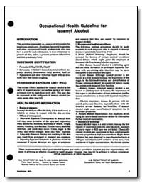 Occupational Health Guideline for Lsoamy... by Department of Health and Human Services