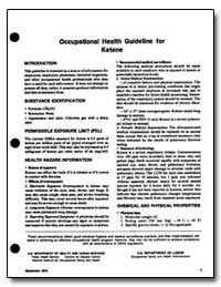 Occupational Health Guideline for Ketene by Department of Health and Human Services