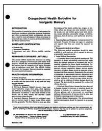 Occupational Health Guideline for Lnorga... by Department of Health and Human Services