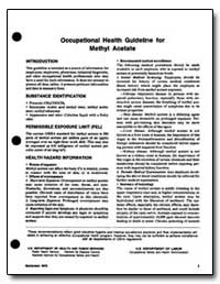 Occupational Health Guideline for Methl ... by Department of Health and Human Services