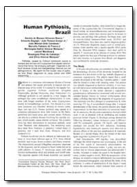 Human Pythiosis, Brazil by Bosco, Sandra De Moraes Gimenes