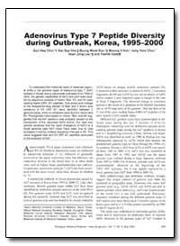 Adenovirus Type 7 Peptide Diversity duri... by Choi, Eun Hwa