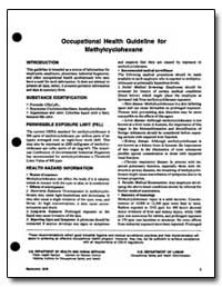Occupational Health Guideline for Methyl... by Department of Health and Human Services