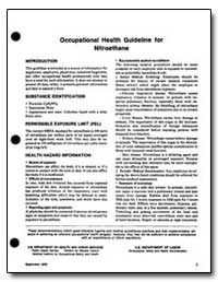 Occupational Health Guideline for Nitroe... by Department of Health and Human Services