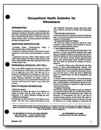 Occupational Health Guideline for Nitrot... by Department of Health and Human Services