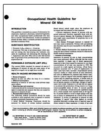 Occupational Health Guideline for Minera... by Department of Health and Human Services