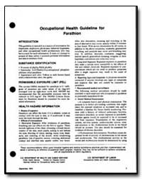 Occupational Health Guideline for Parath... by Department of Health and Human Services