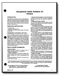 Occupational Health Guideline for Pentan... by Department of Health and Human Services
