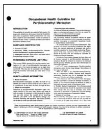 Occupational Health Guideline for Perchl... by Department of Health and Human Services