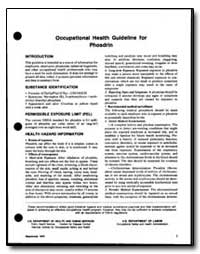 Occupational Health Guideline for Phosdi... by Department of Health and Human Services