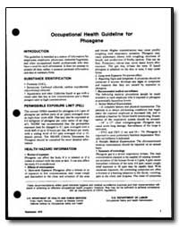 Occupational Health Guideline for Phosge... by Department of Health and Human Services